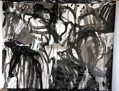 Emaki study 20120529 (mayakonakamura) Tags: abstract painting tokyo acrylic diary experiment study charcoal calligraphy nakamura mayako automaticdrawing emaki kentpaperroll