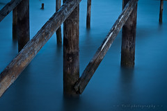 beneth the bridge 2 (tzil) Tags: longexposure bridge blue sea hellas greece outfall axios