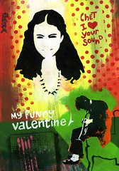 My funny Valentine (dagnellpoharsson) Tags: art design gallery jazz galerie chetbaker acrylique myfunnyvalentine bazart dagnell poharsson artistegraphisme