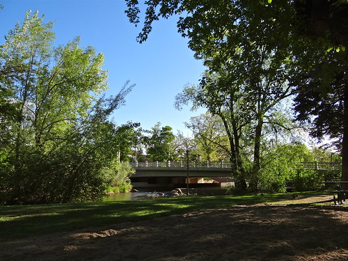 Photo - Boulder Creek and park, just north of the Park Central Building
