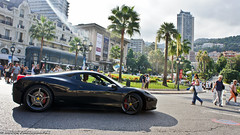 Everyone want play with me (Bay4k Photography) Tags: red sun black cars french rouge photography lights photo italian italia noir sony details sunny ferrari spot casino monaco carlo monte gt alpha modena flashing expensive fr franais coup voitures supercars lightroom nex spotter 458 italienne modene bay4k