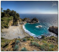 McWay Falls (Frank Kehren) Tags: california panorama beach canon waterfall pacific bigsur 24 f22 hdr juliapfeifferburnsstatepark mcwayfalls canoneos5dmarkii tse24mmf35lii