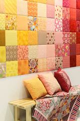 AGF booth wall (Art Gallery Fabrics) Tags: color home modern booth quilt market sewing sew collection fabric collections quilts elegant fabrics quiltmarket springmarket artgalleryfabrics patriciabravo patbravo patbbravo