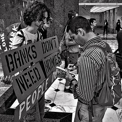 Meet The Press, Injustice In The Housing Market, Occupy DC, JP Morgan/Chase DC Headquarters, Washington, DC (Gerald L. Campbell) Tags: street urban blackandwhite washingtondc blackwhite dc washington chinatown streetphotography documentary dcist protesters urbanphotography canong10 occupydc occupymovement 99movement