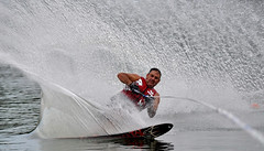 "Sharp outside turn (""On the Rox"") Tags: waterskiing watersports tubing slalom lakemartin slalomcourse"