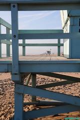 ToweringII (mcshots) Tags: california travel winter sky usa beach coast sand view stock playa socal mcshots southbay lifeguardtower losangelescounty