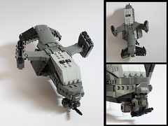 Warhawk Dropship 2 (✠Andreas) Tags: lego vtol gunship drone dropship legoaircraft legovtol legodrone legocargoplane legogunship legodropship dropshipvtol vtoldropship armoredaircraft legoarmoredaircraft legocargo