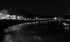 (Giacomo Cardinali) Tags: city blackandwhite italy night canon italia fiume verona notte biancoenero citt adige