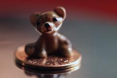 Smaller than a Coin (iofdi) Tags: macro miniature teddybear penny porcelain onecent macromondays smallerthanacoin copperplatedzinc