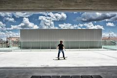 Madrid - Mercado de Barcel (COLINA PACO) Tags: boy architecture arquitectura skate skater nio