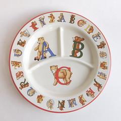 "Vintage Tiffany & Co ""Alphabet Bears"" Divided Child's Plate (karalennox) Tags: bear baby vintage plate alphabet etsy tiffany childs porcelain divided tiffanyco"