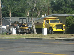 What's parked on your property? (goldiesguy) Tags: truck vehicle heavyequipment goldiesguy