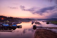 last minutes before sunrise..Thailand, near border with Burma. (Alex Dansai) Tags: sunrise river landscape thailand dawn