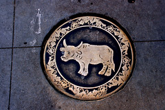 Year of the Ox sidewalk plate, Philadelphia Chinatown (davidvictor513) Tags: philadelphia sign metal plaque cow chinatown pennsylvania chinesenewyear bull engraving cowart yearoftheox chineselunarnewyear yearofthe sidewalkmarker oxart oxengraving