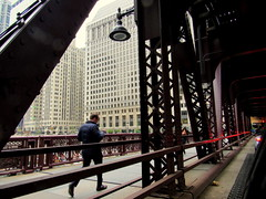 The morning rush to work (Renee Rendler-Kaplan) Tags: city morning bridge man male cars rain weather canon buildings him downtown traffic may run structure rush he wbez chicagoillinois weekday wellsstreet chicagoist 2016 chicagoreader frommycarwindow reneerendlerkaplan canonpowershotsx530hs morningrushtowork
