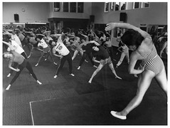 Jazzercise Class, 1983 (Archives New Zealand) Tags: exercise photograph 1983 jazzercise activewear fashionfriday newzealandhistory archivesnewzealand archivesnz