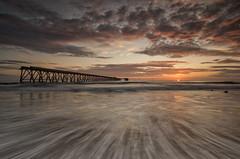 WATER STREAKS (lynneberry57) Tags: pink sea sun seascape colour water clouds sunrise canon movement hartlepool 70d leefilters steetleypier