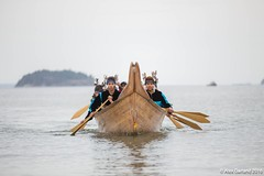 small Lummi canoe landing Break Free PNW 2016 photo taken by Alex Garland img_2545 (Backbone Campaign) Tags: water justice washington energy kayak break action politics protest creative paddle shell free social demonstration oil change wa environment activism anacortes campaign pnw refinery climatechange climate tesoro artful backbone renewable refineries 2016 kayaktivist kayaktivism breakfreepnw