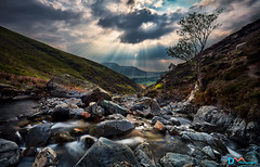 Light in the Valley (Dave Massey Photography) Tags: light clouds rocks stream beck lakedistrict cumbria sunbeams