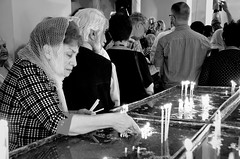 Mother See of Holy Echmiadzin - Armenia (Agnieszka Eile) Tags: caucasus southcaucasus armenia echmiadzin cathedral church orthodox religion christianity unesco blackandwhite bw monochrome people