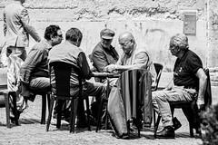 Nino Gentile (PhotoTeam FORUM Roma) Tags: street old city blackandwhite bw white playing black game men cards photography photo sitting streetphotography players moment bwphotography phototeamforumroma