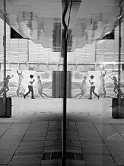 backlight (O.Krger) Tags: people urban bw germany deutschland blackwhite streetphotography streetlife hannover sw monochrom mirrorimage bianconero socialdocumentary niedersachsen peopleinthecity schwarzweis