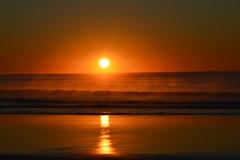 Morning mist at sunrise/ spencer park beach (colinhansen1967) Tags: spencerpark beach sunrise sea sun mist misty waves nikon d3200 55300mm fog spray refletion sand canterbury newzealand
