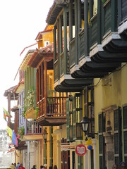 Old city balconies, Cartagena, Colombia (Paul McClure DC) Tags: architecture colombia historic bolívar cartagena june2016