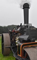 Blowing smoke (littlestschnauzer) Tags: traction engine smoke tractors black june 2016 uk display exhibit engines honley agricultural show huddersfield west yorkshire england wheels wy981 vintage