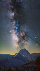Milky Way Hikers (Tarun Kotz) Tags: sky mountain dark way stars astro astrophotography halfdome nightsky yosemitenationalpark hikers sierranevada milky tiogapass pixinsight skytracker ioptron ioptronskytracker subddome