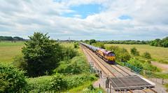 66199 at Clay Mills (robmcrorie) Tags: train rail railway loco clay oil british locomotive mills staffordshire tanker kingsbury humber 66199 6e54