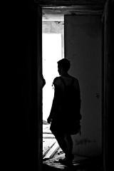esploratori - explorer (immaginaitalia) Tags: vi piemonte italia italy piedmont valli di lanzo valleys alpe bianca sciovia sky path abandoned abbandonato bianco nero black white mono monochrome monocromatico gresyscale scala grigi discover scopritori avventura sagoma silhouette woman donna girl ragazza