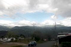 The road, the cemetery, the landscape (vantcj1) Tags: poste cementerio edificio paisaje nubes montaa vegetacin cableado vehculo