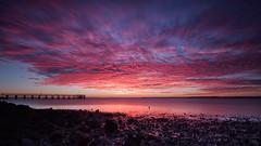 Wellington Point Sunrise (RoosterMan64) Tags: longexposure sky seascape reflection clouds sunrise landscape au australia brisbane queensland wellingtonpoint leefilters