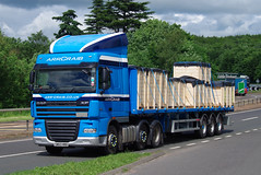 ARR Craib DAF XF SW63HRD on the A90, Dundee, 20/6/16 (andyflyer) Tags: transport lorry a90 haulage hgv roadtransport dafxf arrcraib sw63hrd