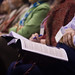 Mennonite/s Writing conference participants chose sessions from a full program of events.