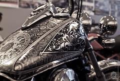 """U-C"" Custom Bike (Unexpected Custom) Tags: original classic bike silver painting design leaf tank metallic harley full sparkle motorbike chrome customized biker fractal custom vtwin unexpected airbrush brushed pinstriping motormania metallicpowder ywnh"