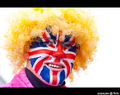Queen's Diamond Jubilee 2012 (Popeyee) Tags: pictures uk greatbritain 2 portrait england people colour london english face june festival jack photography photo costume europe paint flickr gallery foto photographer elizabeth dress image photos unitedkingdom britain weekend anniversary jubilee flag traditional union picture images queen diamond celebration queens event celebrations ii british procession colourful facepaint bild unionjack 60 throne bilder 60th 2012 coronation photographe jubile