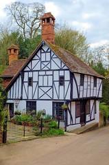 House (Jez22) Tags: old uk england copyright white house black garden kent oak pretty cottage jeremy historic half quaint beams crooked timbered yabbadabbadoo