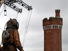 Is that the time already (Mr Grimesdale) Tags: streetart liverpool giants merseyside stevewallace seaodyssey mrgrimesdale