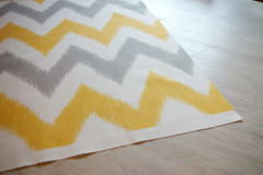 FAB_ChevronIKAT1_LR (pattysloniger) Tags: yellow illustration gray fabric chevron zigzag ikat spoonflower pattysloniger beckandlundy