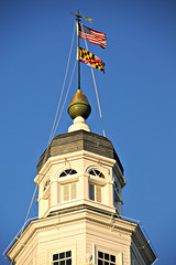 Maryland State House dome (Throwingbull) Tags: city house md state capital maryland cupola dome annapolis incorporated