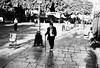 small elderly gentleman with walking stick (gorbot.) Tags: street blackandwhite bw candid palermo f4 teatromassimo leicam8 digitalrangefinder ltmmount voigtlander21mmcolorskoparf4