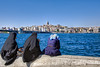 Turkish landscape (iPh4n70M) Tags: sea water turkey river landscape nikon asia europe türkiye hijab istanbul turquie nikkor paysage voile istambul hdr connection bosphorus bosphore 2470mm burka burga carsaf 9xp d700 9raw