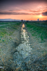 Water channel (Alja Vidmar | ADesign Studio) Tags: sunset clouds slovenia sherpa hdr 200r bracketing cokin velbon ndfilter gnd photomatix nd8x