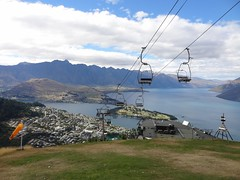 Queenstown and Ski Lift From Skyline Gondola (Bob's Peak) (dannymfoster) Tags: newzealand nz southisland queenstown chairlift lakewakatipu bobspeak skylinegondola