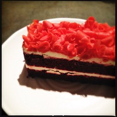(.  .) Tags: cake phonecam square squareformat loftus foodforthought redvelvetcake iphoneography instagramapp uploaded:by=instagram iphone4s
