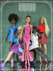 My Dolls in New DIVI Ensemble (TweeBie) Tags: black photography miniature doll barbie jeans denim swimsuit runway basics mattel topmodel goddessdoll modelmuse mbilidoll louboutindoll mackiedoll