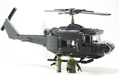 Huey - Alt View (Silenced_pp7) Tags: chopper lego vietnam huey helicopter nam moc greasegun m1911 brickarms toywiz minifigcat