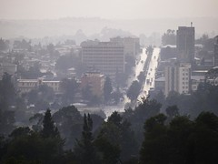 Overview of Addis Ababa (World Bank Photo Collection) Tags: road street city trees urban building car skyline architecture buildings landscape automobile cityscape exterior view scenic vehicle ethiopia worldbank overview urbandevelopment